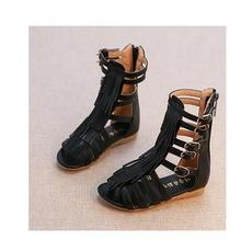 2017 summer girls sandals Pu leather fashion Roman girls sandals kids gladiator sandals toddler baby sandals high quality shoes