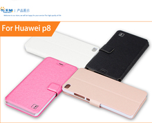 For Huawei Ascend P8 Case Flip Leather Cell Phone Cover For Huawei Ascend P8 Book Style Stand Case With Card Holder(China)