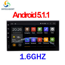 1.6GHZ RK3188 2 DIN universal android GPS radio Android 5.1 HD 1024 screen Quad core ROM 16G wifi car stereo audio no DVD PLAYER