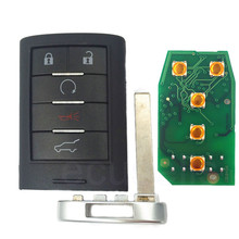 Intelligent Card Smart keyless entry Remote Key fob 5 Button 315MHZ For Cadillac SRX XTS ATS