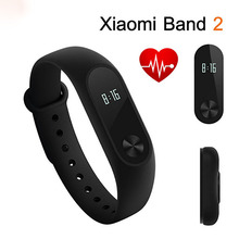 Original Xiaomi Mi Band 2 Smart Wristband Bracelet All Compatible Miband OLED Touchpad Sleep Monitor Heart Rate Global Version(China)