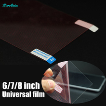 "10pcs/lot Universal 8'' 7"" 6"" clear Screen Protector Guard Film samsung for iPhone 7 mobile phone screen film saver MicroData"