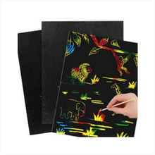20pcs free shipping Hot Sale Scraping Drawing Paper Painting Scratch Art Paper Coloring Cards Scraping Drawing Toys for Children(China)
