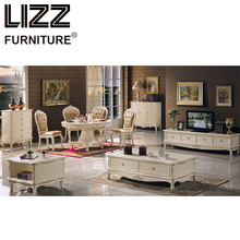 Chesterfield Dining Chair Marble Dining Table Coffee Table Living Room Furniture Royal Furniture Antique Style TV Cabinet Stand(China)