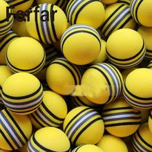 Forfar 50Pcs Bright Yellow Golf Sports Rainbow Sponge Balls Light Indoor Outdoor Training Practice Foam(China)