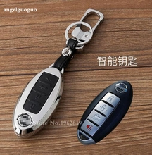 gift high quality new design car leather key case, shell,cover For Infiniti G37 FX50 EX37 q50 q70 qx50 qx60 qx70 accessories
