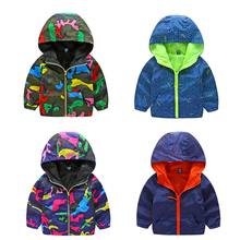 2017 New Arrivals Children Spring Camo Sport Coats Boy Girl Hooded Costume Kids Fluorescent Outdoor Windbreak Jackets CYB001(China)
