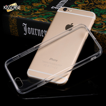 KISSCASE For iPhone 7 Case Super Thin Transparent Cases For Apple iPhone 7 6 6s Plus 5 5s SE Soft Silicone Frame + Acrylic Cover