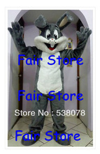 New Style Professional Easter Grey Bugs Bunny Mascot Costume Adult Size Bugs Bunny Mascotte Outfit Suit EMS FREE SHIPPING SW253