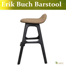 U-BEST Erik Buch Style Counter Stool ,walnut  American Ash +French Cream Leather,kitchen's counter stool