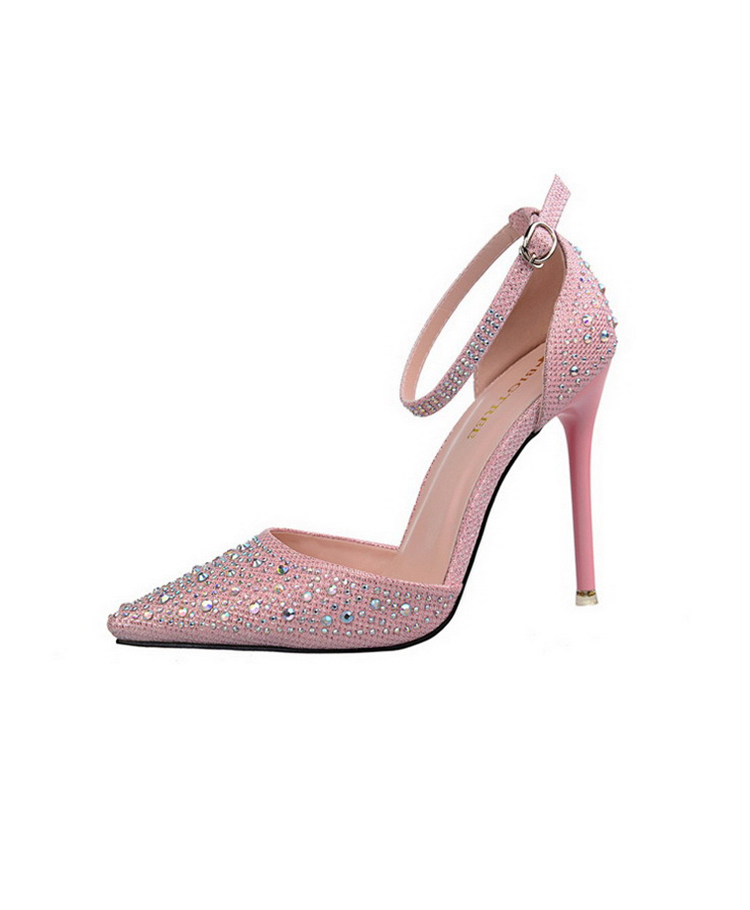Women Pumps Sexy High Heels Shoes Woman Silver Rhinestone Wedding Shoes High Heels Party Shoes Summer Hight Heels Sandals 20