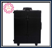 DHL Free Shipping makeup case professional Aluminum case with trolly makeup box light case(China)