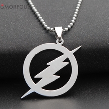 10PCS/Lot Jewelry men 's necklace titanium steel pendant Flash Pendant Necklace Wholesale(China)