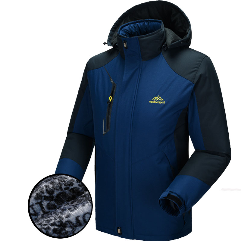 5XL Winter Softshell Jacket Men Outdoor Sport Thick Mens Jackets Male Waterproof Windproof Thermal Jackets For Camping Ski VA007<br>