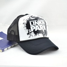 NEW 2016 hats hot sell Linkin park letters printed spring/summer net cap for Net hats men&women SC304