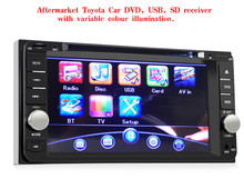 7 inch Car DVD Player Double 2 Din with Remote Control In-dash Stereo Video Microphone Bluetooth V3.0 Hands Free Call for Toyota