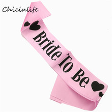Chicinlife 1pcs Pink Bride To Be Bridesmaid Sash Bride Sash Bridal Shower Party Girl Decoration Bachelorette Party Supplies