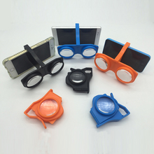 Portable Foldable Mini VR Glasses 3D Virtual Reality BOX for VR Movie Game With Phone Clip for 4.0~6.5'' Android iOS Smartphone