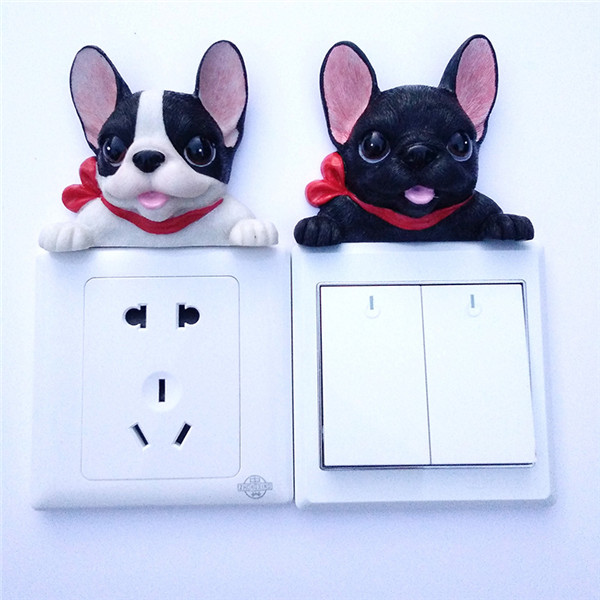 French Bulldog cute puppy dogs resin switch stickers fridge magnets - Buyer's Show 17