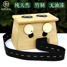 double hole moxibustion box bamboo moxibustion Ai column box moxibustion massage equipment(China)