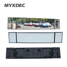 Universal Car Rear View Mirror Wide Angle Panoramic Anti-dazzling Interior Rearview Mirror Large Vision 380mm Curved Mirror(China)