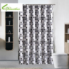 Waterproof Shower Curtain With 12 Hooks Mosaic Printed Bathroom Polyester Curtains High Quality Bath Bathing For Home Decoration