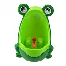 Frog Potty Kids Toilet Urinal Pee Trainer Wall-Mounted Toilet Pee Trainer Penico Children Baby Boy Urinal Bathroom Accessories(China)