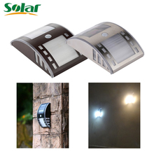 Newest Solar Light Stainless Steel Motion Sensor Lights LED PIR Street Wall Garden Outdoor Solar Lamp Powered Lamps(China)