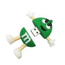 U Disk Gift USB stick 100% real capacity chocolate M&M USB flash drive pen drive 8gb 16gb 32gb 64gb memory Stick Pendrive U Disk