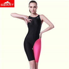 SBART Sport Swimsuits Competitive Swimming Suits Girls Racing Swimwear Women One Piece Swim Suit Competition Swimsuit Knee
