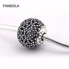 FANDOLA Beads 100% 925 Sterling-Silver-Jewelry Wellness Essence Beads DIY Fits Smaller and Thinner Essence Bracelet Charms FE011(China)