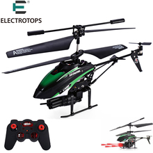 E T RC Remote Control Helicopter WLToys V398 Cool Missile Launching 3.5CH Mini Drone With Gyro Quadcopter christmas gift for boy