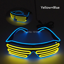 Drama Performance Decor Neon Led Strip Blinking Windows Glasses EL Wire Flashing Eyewear as Carnival Rave Costume Party Supplies
