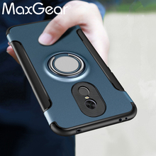 MaxGear For Xiaomi Redmi Note 4X Case Car Holder Stand Magnetic Bracket Finger Ring TPU + PC Cover for Redmi Note 4X Pro Note 4