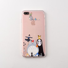 "Newest Cute cartoon Totoro pattern PC + TPU 2 in 1 back cover cases for iphone 7 4.7"" & iphone 7 plus 5.5"" phone cases"