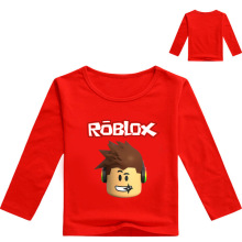 Z&Y 3-16Year Tops Roblox T-shirt Conan T Shirt Cartoon Top Kids Tennis Clothing Infant Boy Clothing Sleev Long Tee Camisa Menino