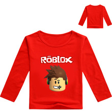 Z&Y 3-16Year Tops Roblox T-shirt Conan T Shirt Cartoon Top Kids Tennis Clothing Infant Boy Clothing Sleev Long Tee Camisa Menino(China)