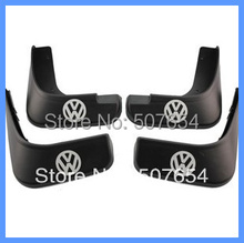 "Free shipping! High quality 4pcs Mud guard with ""v/w"" logo(strong PP material) for Volkswagen Passat B6/Magotan 2005-2015"