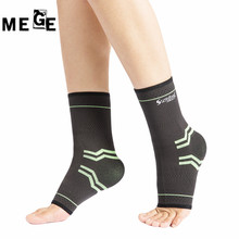 MEGE 1 Pair High Elastic Bandage Compression Knitting Sports Protector Basketball Soccer Ankle Support Tobiller, Dance Protector(China)