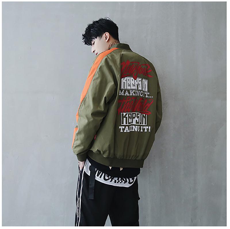 Bomber Jacket Men Pilot Printed Streetwear  (13)