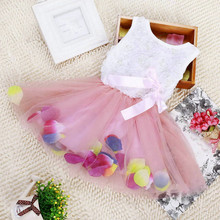 Infant Baby Girl Tutu Dress vestidos Kids Cute Lace Flower Summer Party Princess Dresses baby girl Christmas Clothes