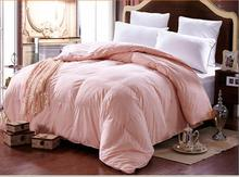 Winter super warm fake white duck Down Comforter quilted Blanket Quilt fake duck down duvet twin double King Queen 100% cotton