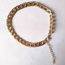 The latest version of coarse imitation gold bracelet chain anklets(China)