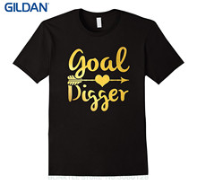 GILDAN Printed Summer Style Tees Male Harajuku Top Fitness Brand Clothing Goal Digger! Hustler Go Getter T-shirt