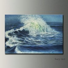 handmade seascape landscape oil painting on canvas wall art ocean waves picture for home decoration unique gift free shipping