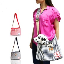 Pet Carrier Bag cotton Cloth Dog Cat Carrier Single Shoulder Bag with mesh for  breahable