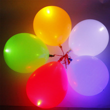 10pcs 12inch Flash Light Glow Led Balloons 2017 Event Party Supplies Wedding&Birthday Decoration Glow In The Dark Sky Lantern(China)