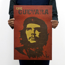 % Famous Man Che Guevara Posters Advertising Party Supply Old Bar Complex Decorative World History Painting Vintage Home Decor(China)