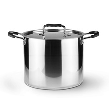 High Quality Stainless Steel Pots 24*20cm 3-Ply Sandwiched Base Soup Pot Panela Large Capacity Suitable For Gas Induction Cooker