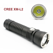 New Diving Torch CREE XM L2 2800Lm LED Diving Flashlight Lamp Underwater 80 Meter Waterproof aluminum reflector cup light